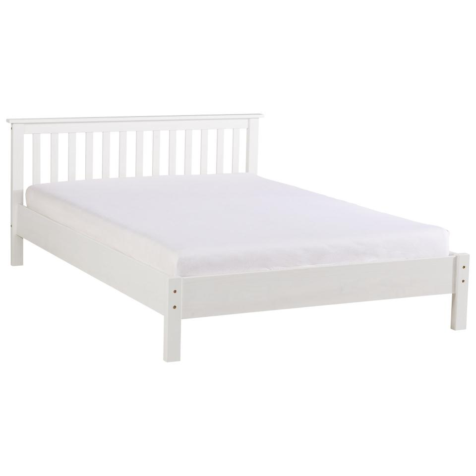 Bed Frame Luis 180 X 200 Cm Pine Painted White Jysk